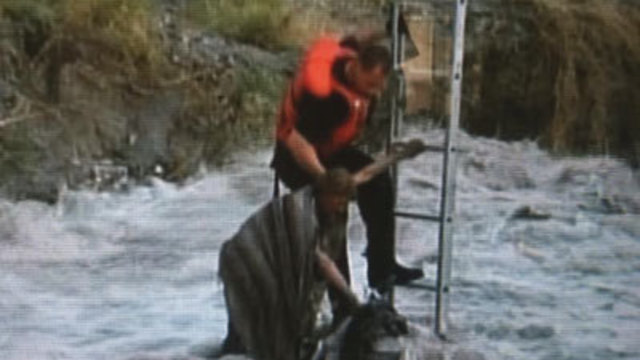 Firefighter recalls swift water rescue in 2010