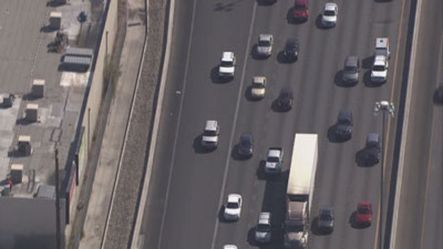 Driving You Crazy: Striping on I-15 on-ramp from Sahara