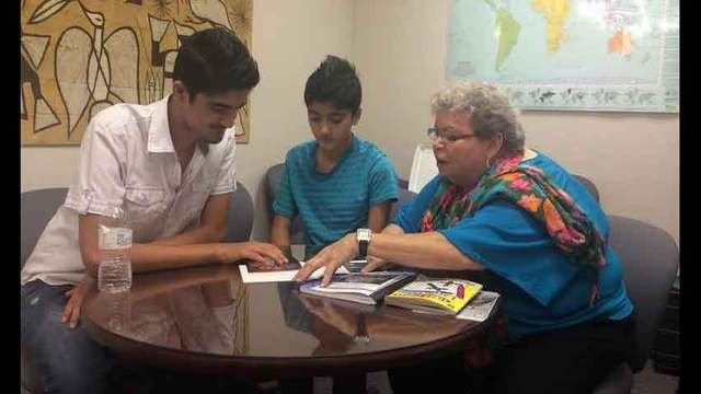 At risk students being helped by foster grandparents