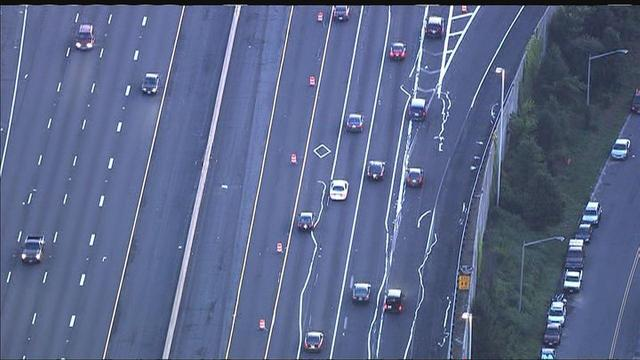 Botched paint job on Virginia Interstate causes mess