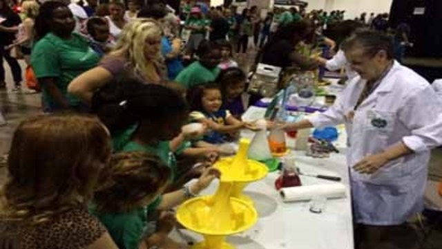 Girl Scouts look for recruits at their