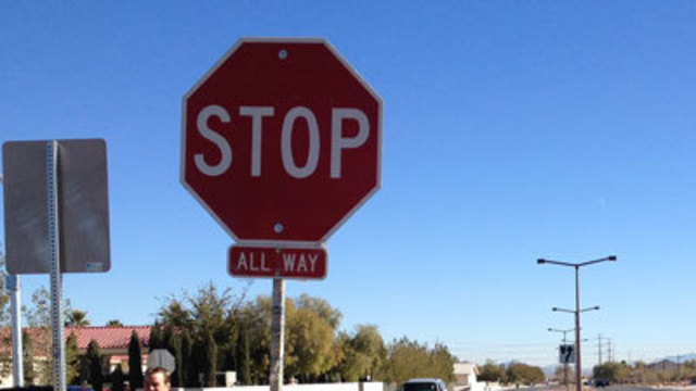 Woman Fights Law on Stop Sign Confusion