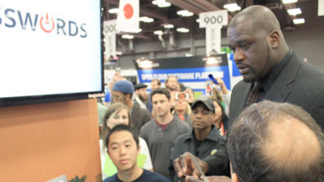 Shaq Stops by #VegasTech Booth at SxSW