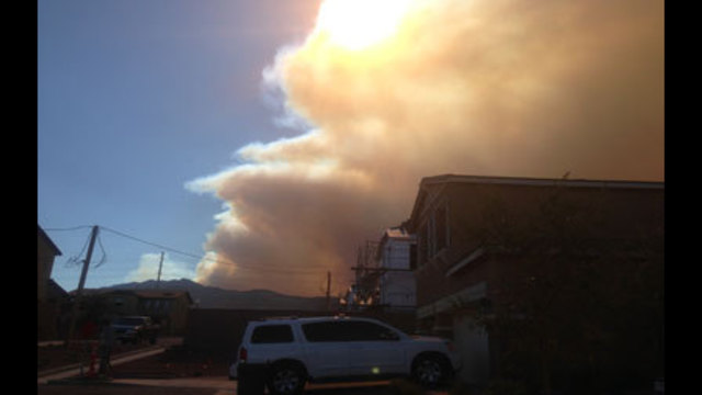 Wildfire Filling Neighborhoods with Smoke and Ash