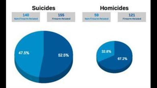 Clark County Suicides Far Outnumber Homicides