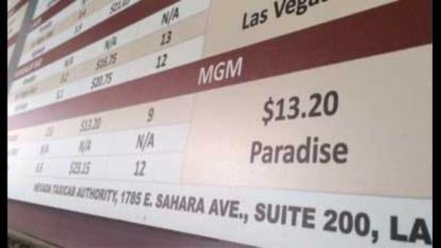 New Price Board Designed to Stop Las Vegas Taxi Long-Hauling