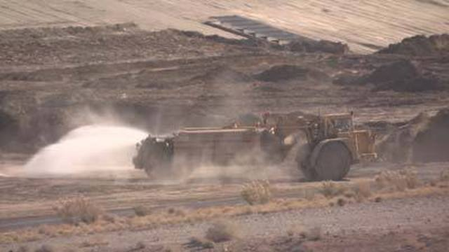 Crews Begin Clean-Up of Kyle Canyon Detention Basin