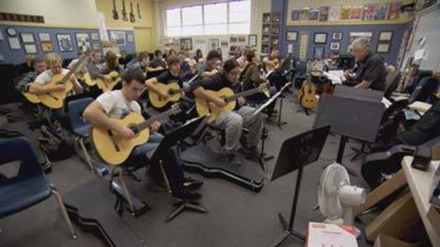 Cool at School: Program Helps Students Sharpen Guitar Skills