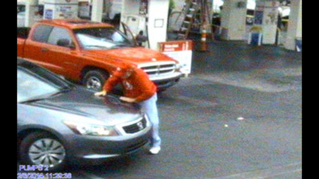 Police Looking for Man in Road Rage Case at Gas Station