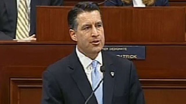 Gov. Sandoval Files for 2nd Term With no Big Opponent