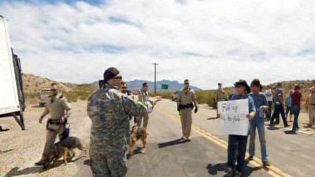 Tensions increase as feds seize Nevada rancher's cattle