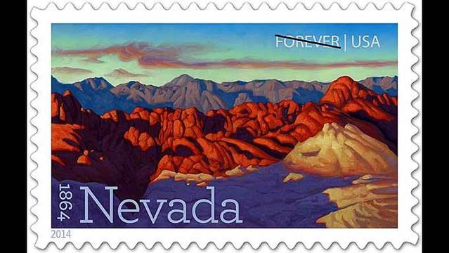 Stamp marking Nevada's 150th unveiled