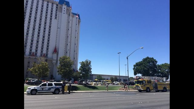 Crews respond to fire at the Excalibur
