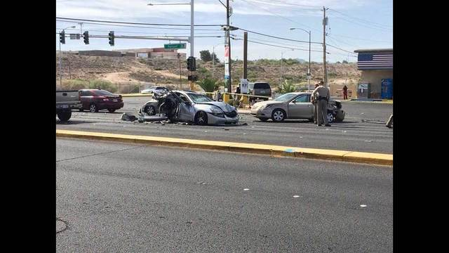 Two injured in crash near Mountain Vista and Russell