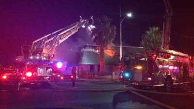 Fire destroys vacant home in downtown Las Vegas