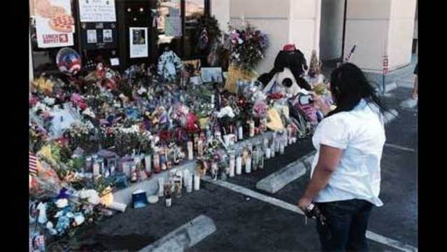 Employees, families with kids, witnessed police officers' murders
