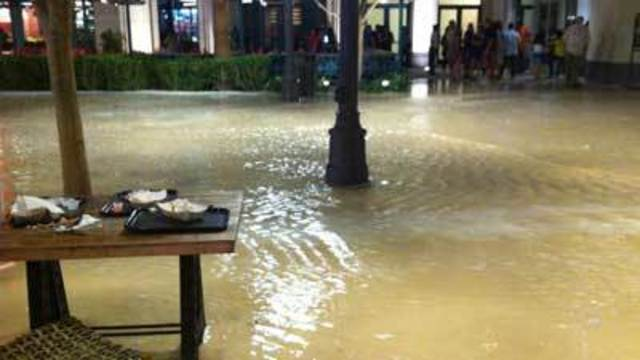 Clean-up underway at LINQ after weekend flooding