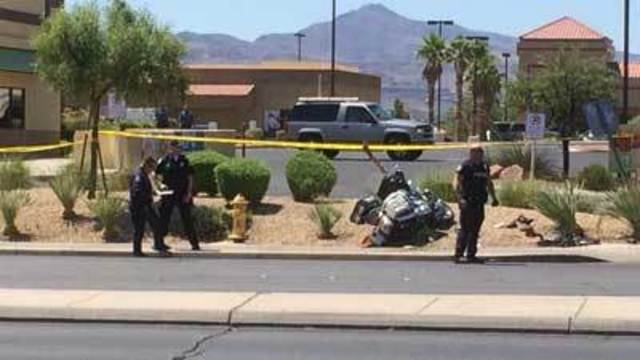Henderson Police motorcycle officer hit by car