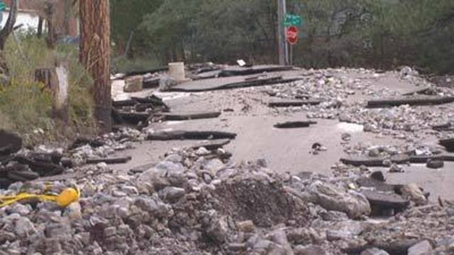 Mt. Charleston areas under threat of potential flooding