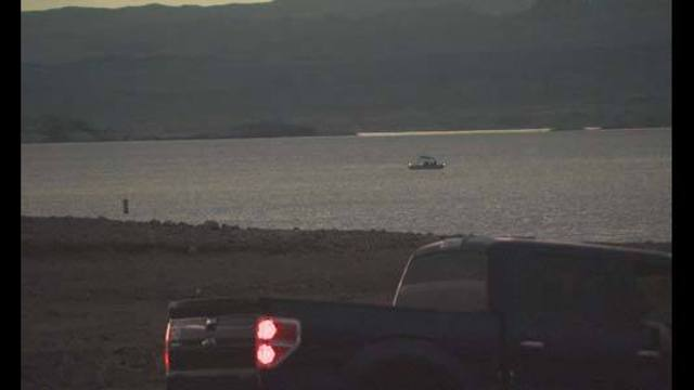 Thunderstorm causes scary moments on Lake Mead