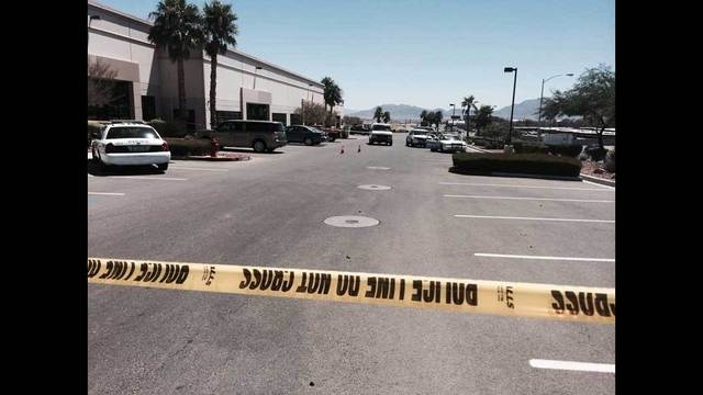 One man shot and killed after fight at NLV business