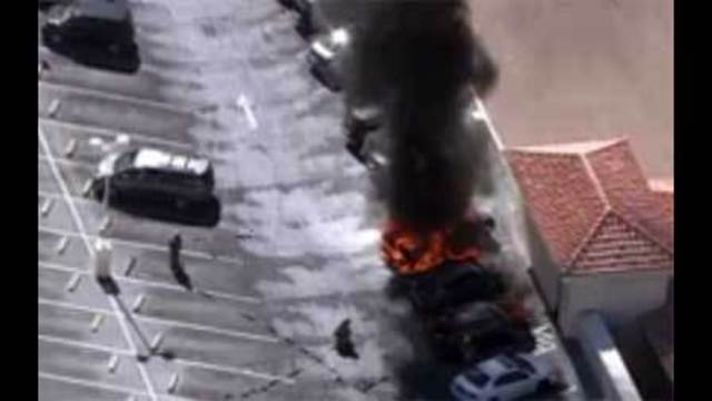 Truck fire at Bellagio Hotel parking garage