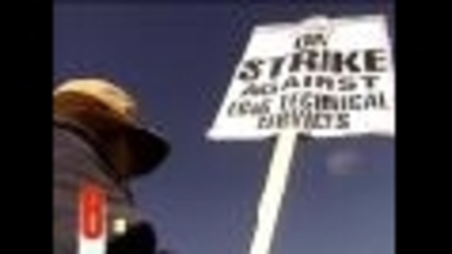 Strikers Walk Off Job at 'Secret Base'