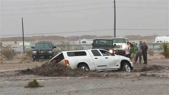 Flooding Drenches Valley, Closes Roads