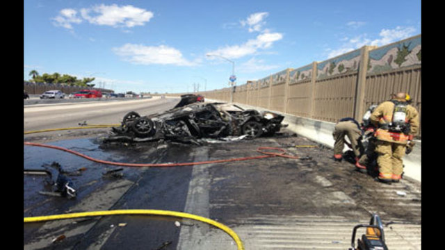 Lanes of US 95 Northbound at Charleston Back Open