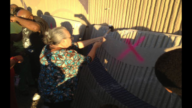 Residents Celebrate F Street Wall Removal