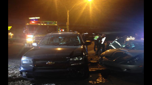 NHP Investigates Three-Car Crash at Blue Diamond and Cimarron Rd.