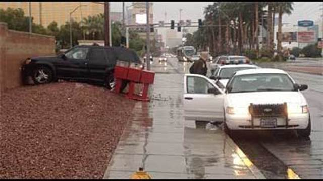 Hundreds of Crashes as Las Vegas Gets Rain
