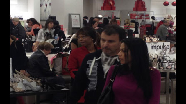 Shoppers Crowd Stores for Black Friday Deals