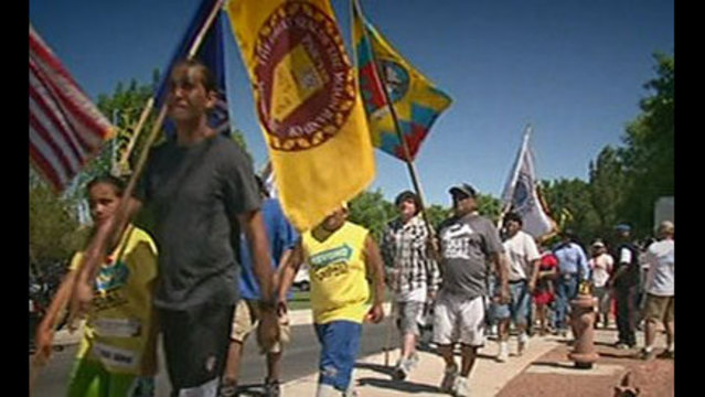 Native Americans March to Protest Nevada Coal Plant