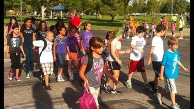 'Walk to School' Day Teaches Students Lesson in Safety