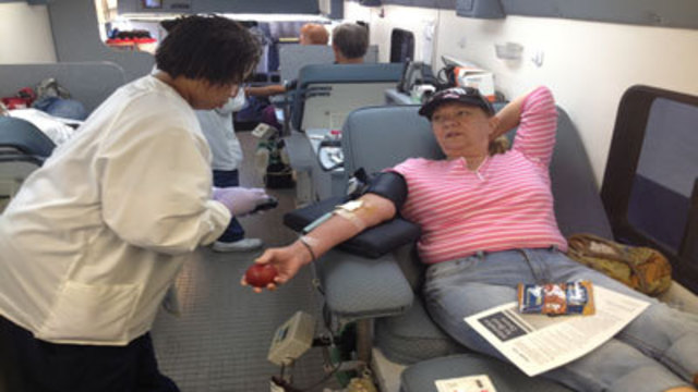 Locals Donate Blood For Victims of Hurricane Sandy