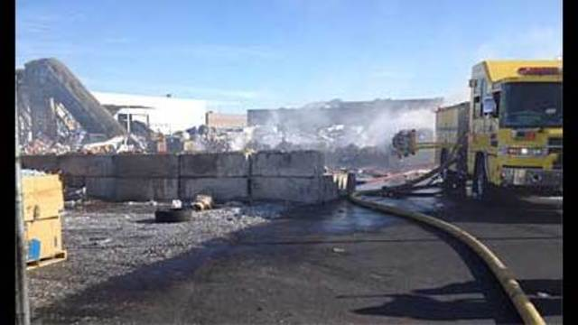 Fire Reported at Recycling Plant