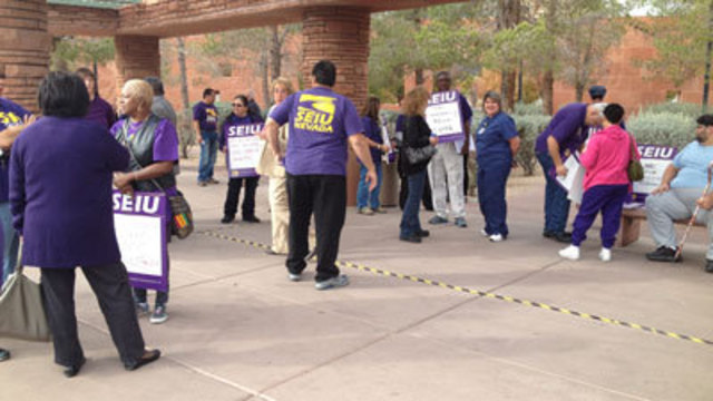 SEIU Protests Proposed Changes to UMC
