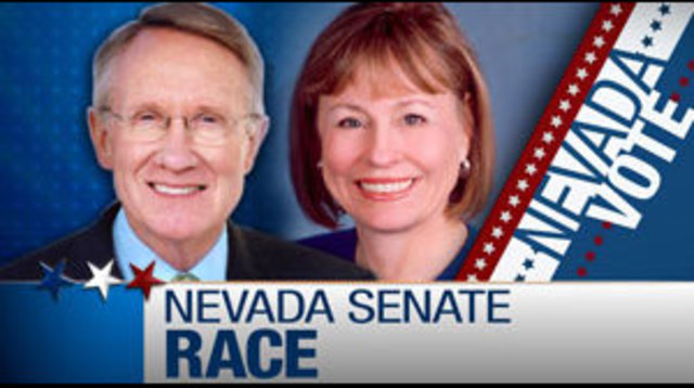 Senator Harry Reid and Sharon Angle Both Speak at Separate Political Conventions