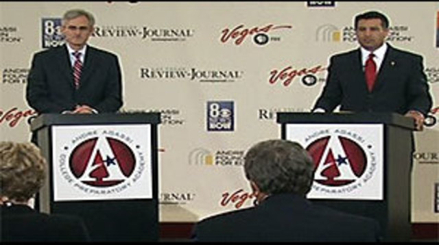 Reid and Sandoval Square Off in Their First Debate