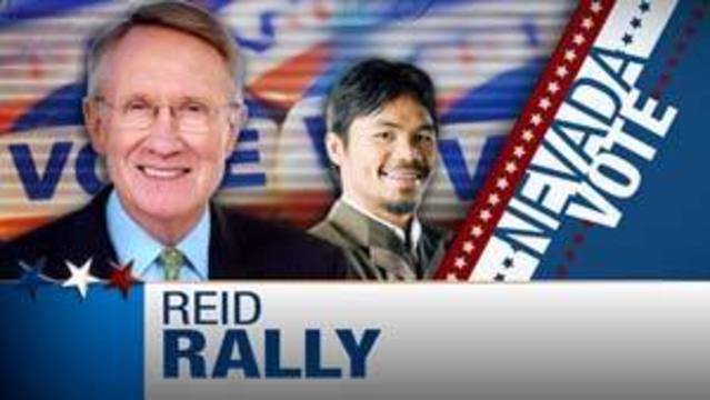 Harry Reid Campaigns with Manny Pacquiao in Las Vegas