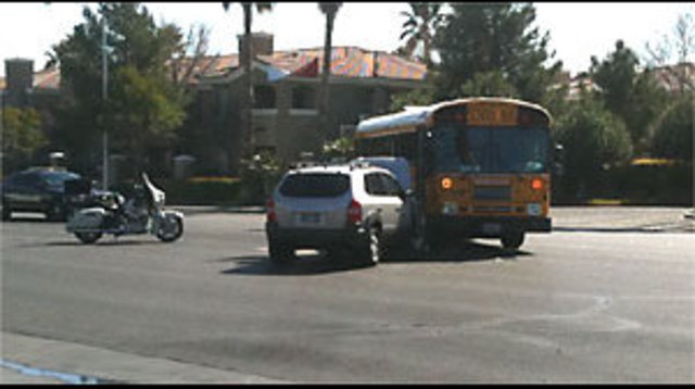 No One Injured in School Bus Accident