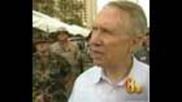 Senator Reid Visits Hurricane Damaged Areas