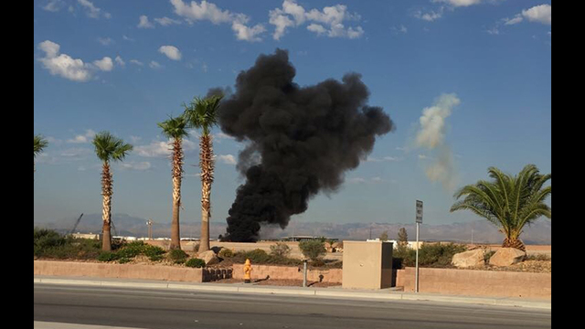 Aircraft crash reported near Nellis AFB