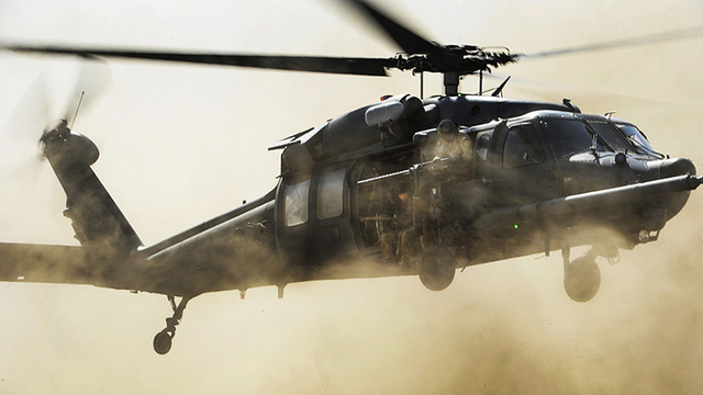 Four injured in military helicopter crash