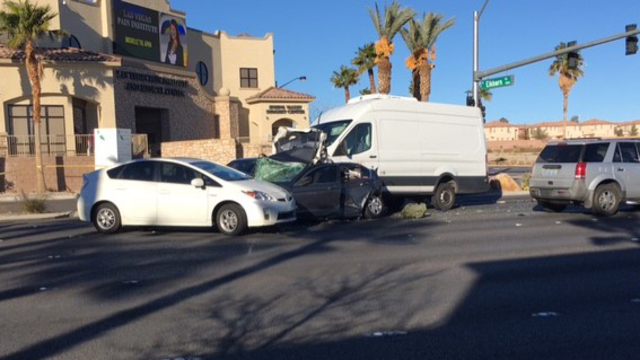 8 cars involved in critical injury crash at Durango and Elkhorn