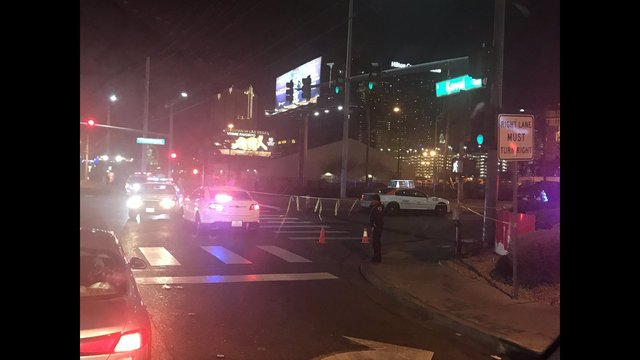 Bicyclist hit by taxi near the strip