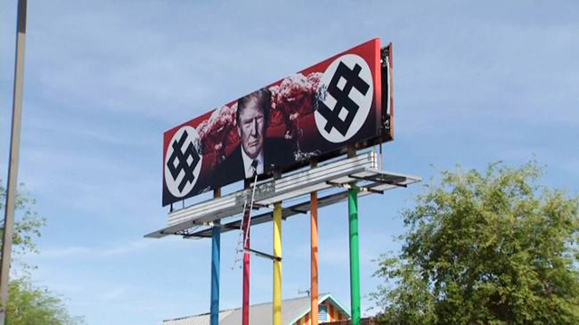 New Trump billboard creating controversy in Arizona