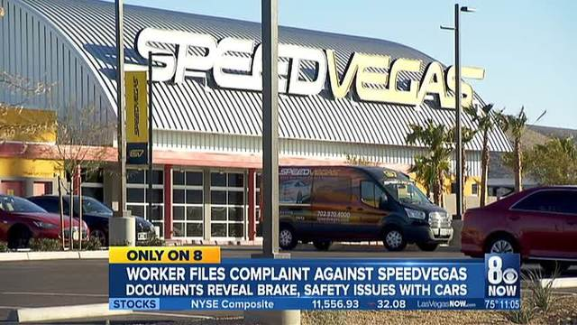 Worker files lawsuit against SpeedVegas; documents reveal brake, safety issues with cars