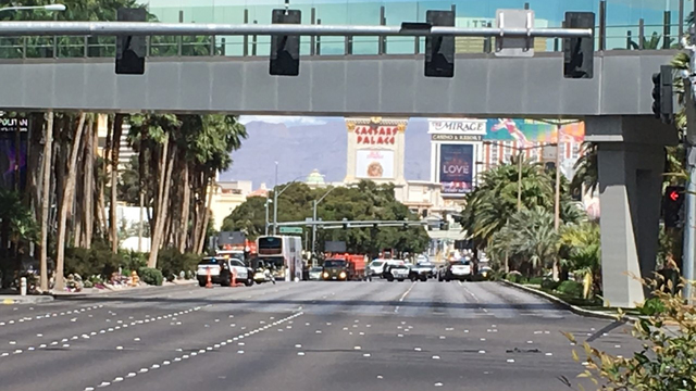 Section of Las Vegas Strip closed after shooting injures at least one
